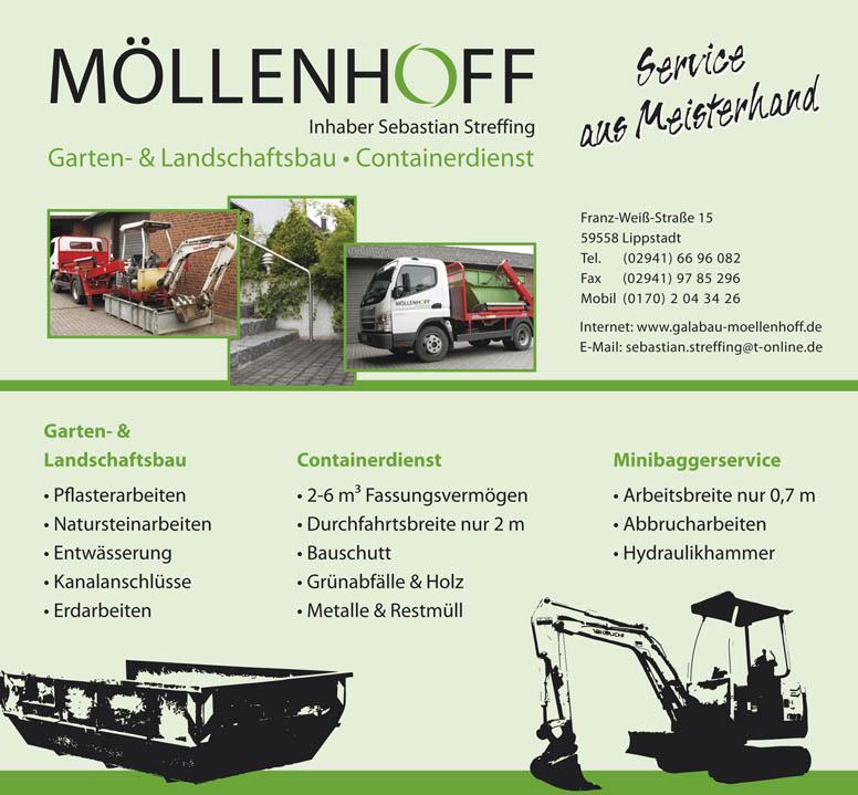 Moellenhoff, Garten- & Lanfschaftsbau, Containerdienst